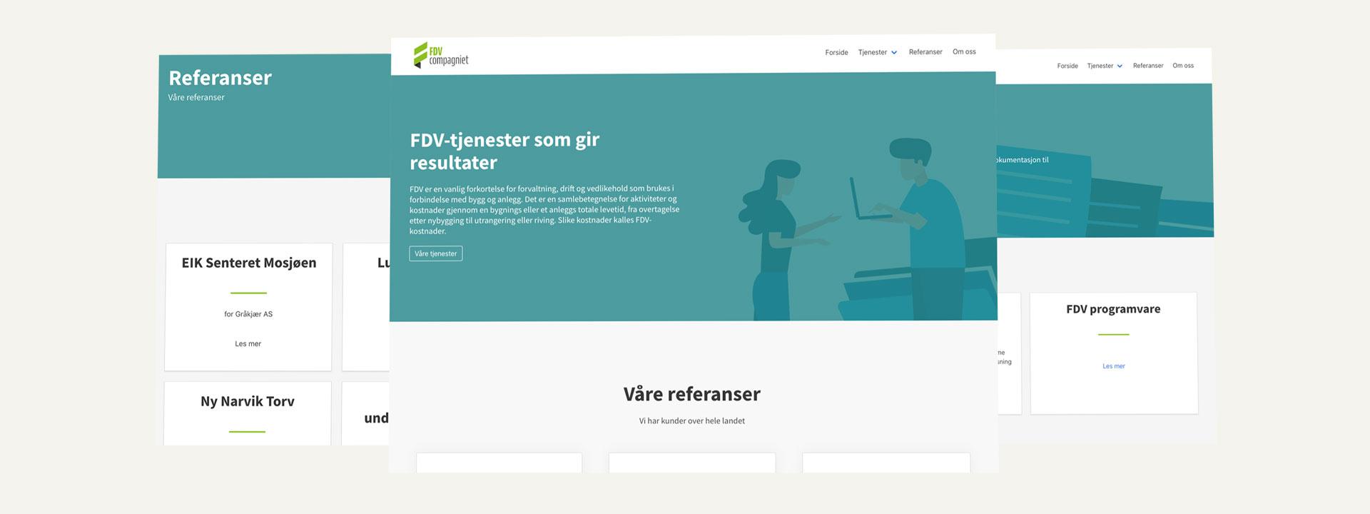 Nettside FDV Compagniet